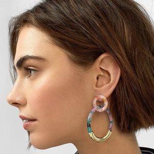 Jewelry - NEW Acrylic Double Hoop Earrings